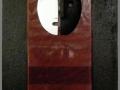 2011. IL DOPPIO (3). Tecnica mista e bassorilievi su tavola e specchio telato. cm 100x60