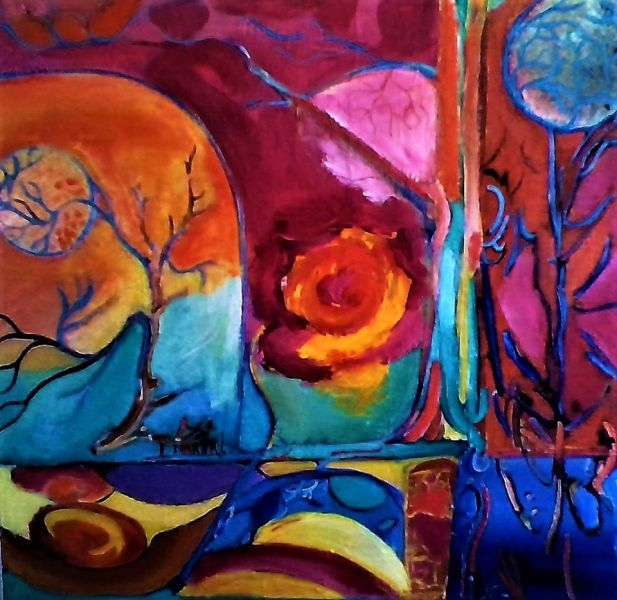 Inner_SpaceII_Abstract-Expressionism_Acrylics_on_wood_18x18