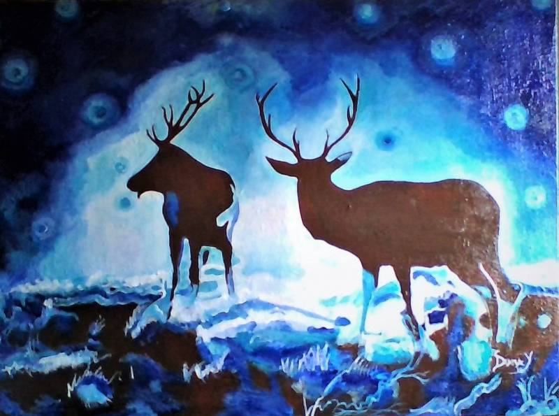 Northern-Lights.-Michigan-II_acrylics