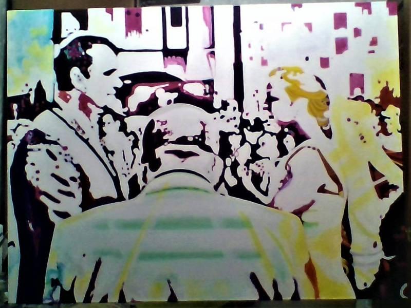 The-Ceremony_portaiture_style_popart_Media_Acrylics_on_Canvas_36x48
