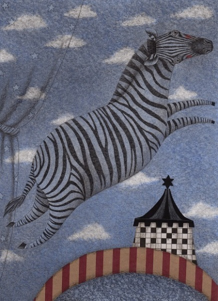 Judith-Clay-Zebra-in-the-Clouds