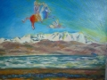 17-cavallo_volante_con_trombettiere_davanti_allhimalaya_-flying_horse_with_bugler,in_front_the_himalaya.olio_su_tela,50x70,2008.
