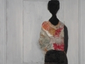09._2011._black_woman_on_white_(cm_15x15)_t.mista_su_legno__incorniciato