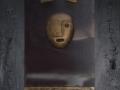 2009. IL TEMPO. Tecnica mista  e bassorilievi su tavola e specchio telato. cm 100x60.