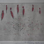 "PdiA""Figure e punti"" 21x17 acquaforte penna carboncino"