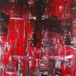 Broken Heart 1.50 x 1 meter acrylic on canvas.painting in Copenhagen 2011