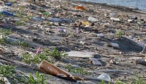 spiaggia e plastica