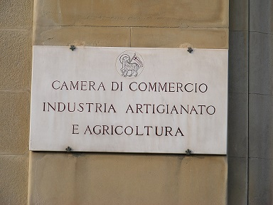 targa camera di commercio