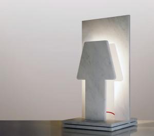 Paolo Ulian e Moreno Ratti, + o- lamp, marmo. Courtesy gli autori.