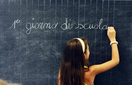 Inaugurazione dell'anno scolastico 2012/2013 alla Scuola Elementare Gabelli, Torino, 12 settembre 2012 ANSA/ ALESSANDRO DI MARCO