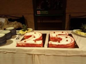 25 anni di lavoro torta