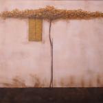 Parra en la ventana (Pergolato), 80x100 cm, 2006. Acrílico, técnica mixta sobre tabla.  .