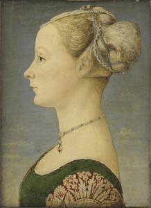 27. Piero del Pollaiolo, Ritratto di giovane donna, Milano Poldi Pezzoli (1)