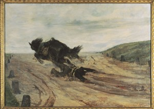 Giovanni Fattori, Lo staffato, 1880 circa, olio su tela, Firenze, Galleria d'arte moderna di Palazzo Pitti (1)