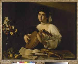 Caravaggio il Suonatore di luito Ermitage