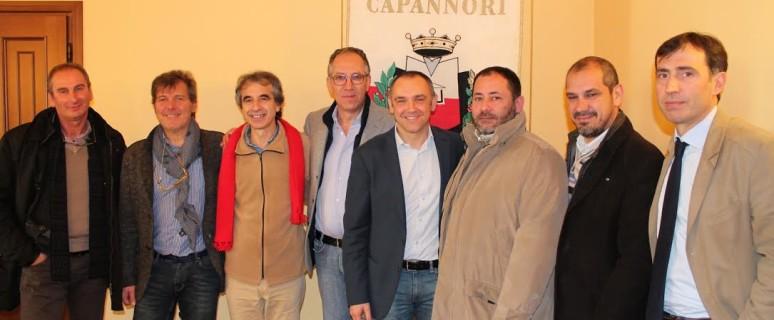 La delegazione del Comune di Sanremo
