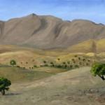 Valle verso Tiznit 40 x 55