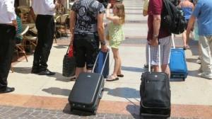 turisti in arrivo