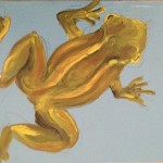Rana esculenta, 2015. Olio su tela
