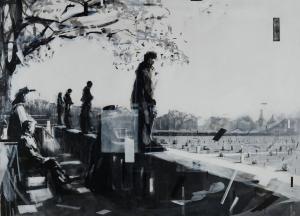 Our Morning Garden, acrylic on canvas, 160 x 220, 2014