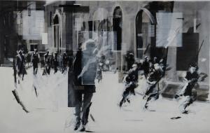 Vital Gestures III, acrylico su tela, 140 X 220, 2015