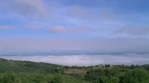 Maremma Grossetana, mare di nuvole in time lapse