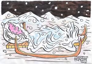 IMBIANCATURA sotto la neve sta il pane caldo della gioventù