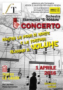 Musica per i diritti umani, concerto per Giulio Regeni