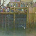 Stonington Wharf, 2015, pastello