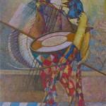 One Man Band, 1998, pastello