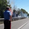 incendio carabiniere