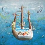 Arca di Noè, acrilico e olio su tela, 170x200