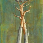 Castello sull'albero, acrilico e olio su tela, 55x24