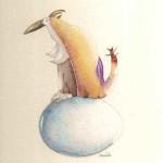 L'uccello Rukh, aquerello, 18x18