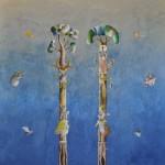 Acrilico e olio su tavola, 170x175