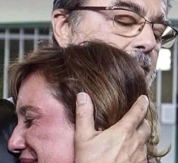 sorella e papà Stefano Cucchi