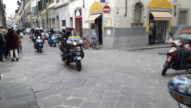 Cimento invernale del vespista 4 gennaio 2015 Firenze