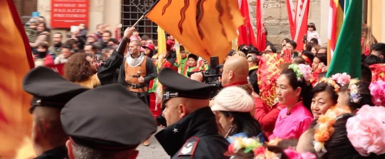 cinesi alla festa delle luci