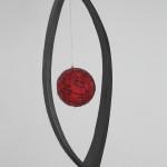 1. 2013. Nascita. Legno, pigmenti, mosaico,lacca. cm82x25,5x15