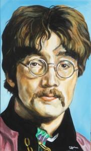 2 - John Lennon - 2015 - 30x50 - smalti su multistrato