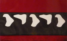 2011. U(15). Tecnica mista e sagome su tavola. cm 65x90