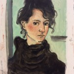 Portrait, 2017 Oil on canvas 19 x 13,3 cm.