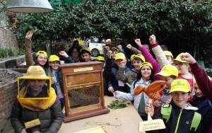 bambini in apiario