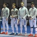 Squadra Sciabola maschile Plovdiv2017 - Caranti Cavaliere Dreossi Neri (2)