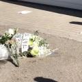fiori per fabio morto sul lavoro
