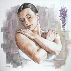 opera_Maria Bidini _2016_Oltre la danza 2_acquerello su tela_50x50cm