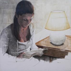 opera_Maria Bidini _Luce per la mente_2015_pastelli e acquerello su tela e gesso_80x80cm