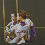 Confessionary, acrilic on canvas, 50 x 50 cm. 2014