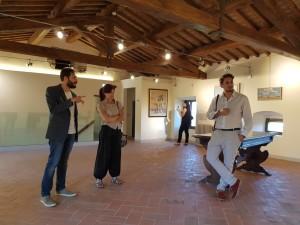 Fabrizio Spadini con il sindaco Alessandra Dori e il curatore Giovanni Pichi Graziani - foto 1