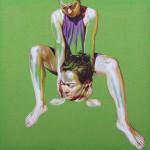 Parturition, acrilic on canvas, 50 x 50 cm. 2014